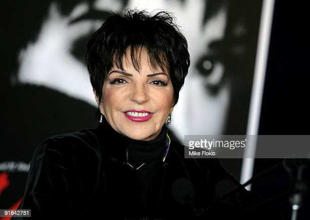 Liza Minnelli attends a press conference ahead of her tour 'Liza's at the Palace' at the Sydney Opera House on October 13, 2009 in Sydney, Australia.