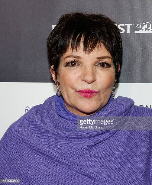 Liza Minnelli attends Los Angeles Italia Closing Night Ceremony at TCL Chinese 6 Theatres on February 20, 2015 in Hollywood, California.