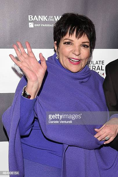 Liza Minnelli attends Los Angeles Italia Closing Night Ceremony at TCL Chinese 6 Theatres on February 20 2015 in Hollywood California
