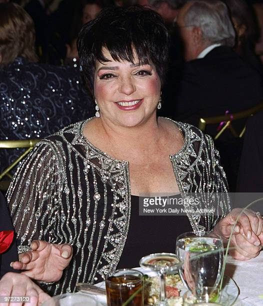 Liza Minnelli attends the Drama League's benefit honoring her at the Pierre Hotel.