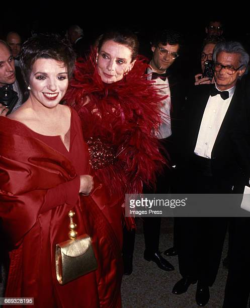 Liza Minnelli Audrey Hepburn and Richard Avedon attend the 8th Annual Council of Fashion Designers of America Awards at the Metropolitan Museum of...