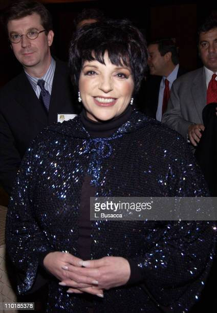 Liza Minnelli during A E Television Network Celebrates 20th Anniversary Inside at Mandarin Oriental Hotel Time Warner Center in New York City New...