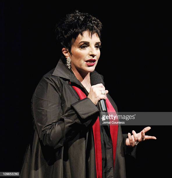 Liza Minnelli during Broadway's Celebrity Benefit for Hurricane Relief Show at The Gershwin Theatre in New York City New York United States