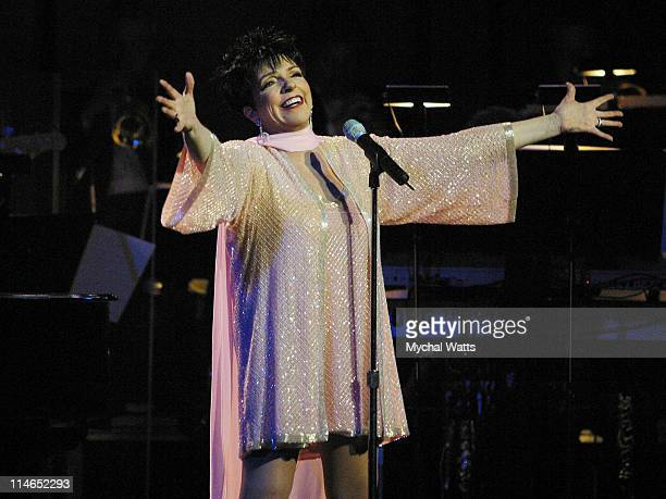 Liza Minnelli during Liza Minnelli Christmas Spectacular at The New York's the Town Hall sponsored by WKTU 1035 FM at Liza Minnelli Christmas...