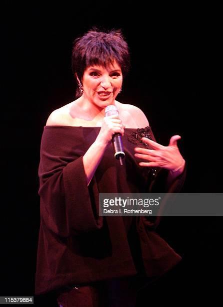 Liza Minnelli during Liza Minnelli Live At The North Folk Theatre At Westbury at North Folk Theatre in Westbury New York United States