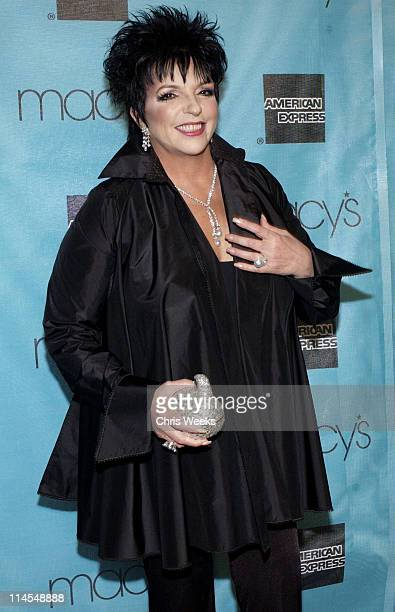 Liza Minnelli during Macy's American Express Passport Gala Arrivals at Barker Hanger in Santa Monica California United States