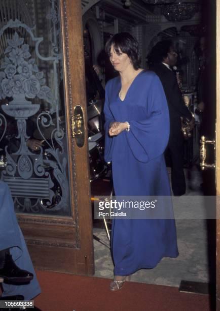 Liza Minnelli during ReWedding of Sammy Davis Jr and Altovise Davis at Bistro Restaurant in Beverly Hills California United States