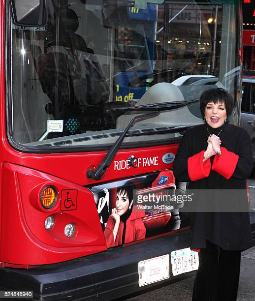 Liza Minnelli Honored in Gray Line New York's 'Ride of Fame' Campaign in Times Square, New York City.