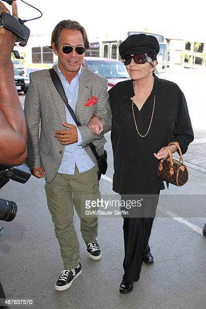 Liza Minnelli is seen at LAX on September 11 2015 in Los Angeles California