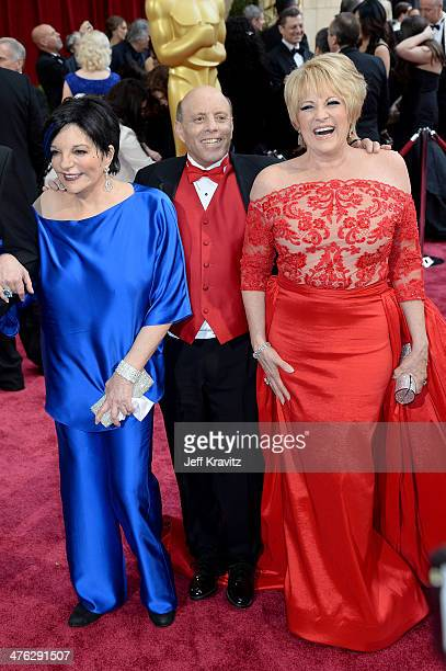 Liza Minnelli Joey Luft and Lorna Luft attend the Oscars held at Hollywood Highland Center on March 2 2014 in Hollywood California