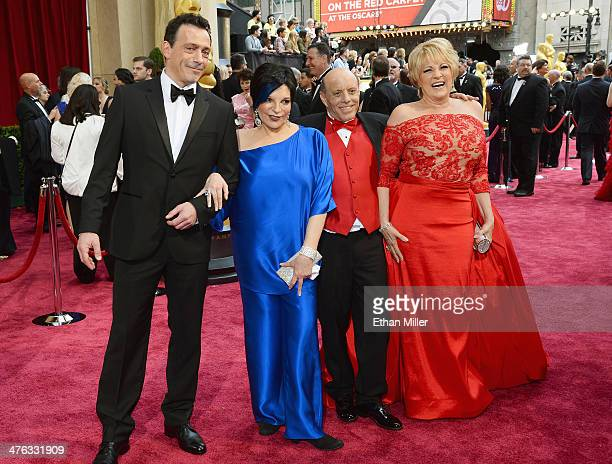 Liza Minnelli Joseph Luft and Lorna Luft attend the Oscars held at Hollywood Highland Center on March 2 2014 in Hollywood California