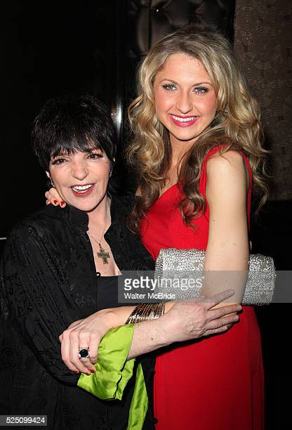 Liza Minnelli Nina Arianda during the Broadway Opening Night Performance After Party for 'Born Yesterday' in New York City