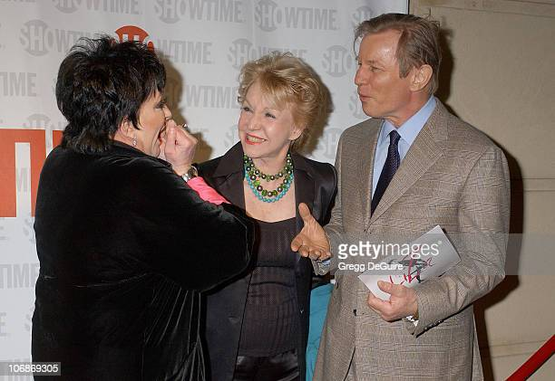 Liza Minnelli Patricia McCallum and Michael York during Showtime Presents Liza With A 'Z' Arrivals at MGM Screening Room in Century City California...