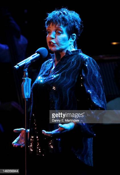 Liza Minnelli performs at the opening night of Hampton Court Palace Festival 2012 at Hampton Court Palace on June 14 2012 in London England