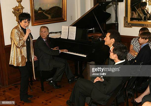 Liza Minnelli performs at the wedding of Michael Feinstein and Terrence Flannery held at a private residence on October 17 2008 in Los Angeles...