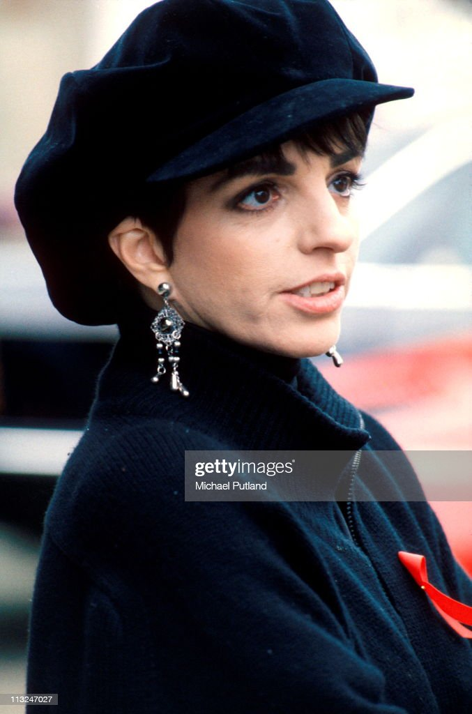 Liza Minelli, portrait, at the Freddie Mercury Tribute Concert for AIDS Awareness at Wembley Stadium, April 20th 1992.