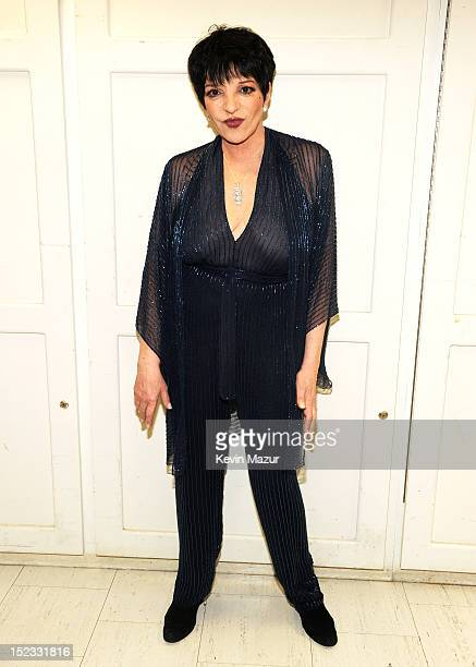 Liza Minnelli poses backstage at the memorial of Marvin Hamlisch at Peter Jay Sharp Theater on September 18 2012 in New York City