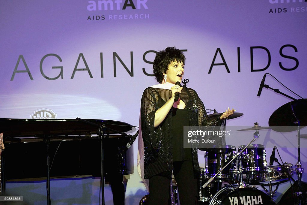 Liza Minnelli presents at 'Cinema Against AIDS 2004', the 11th annual event in aid of amfAR (American Foundation for AIDS Research) at Le Moulin de Mougins at the 57th Cannes Film Festival on May 20, 2004 in Cannes, France.