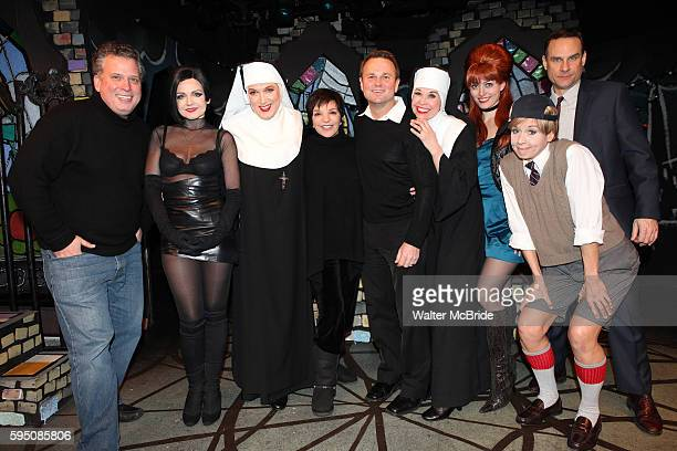 Liza Minnelli Sam Harris Billy Stritch visit the cast of 'The Divine Sister' Alison Fraser Charles Busch Julie Halston Amy Rutberg Jennifer Van Dyck...