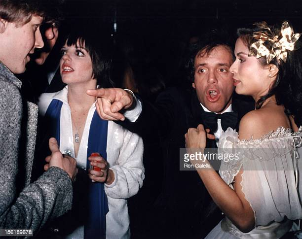 Liza Minnelli Steve Rubell and Bianca Jagger attend the birthday party for Bianca Jagger on December 12 1977 at Studio 54 in New York City
