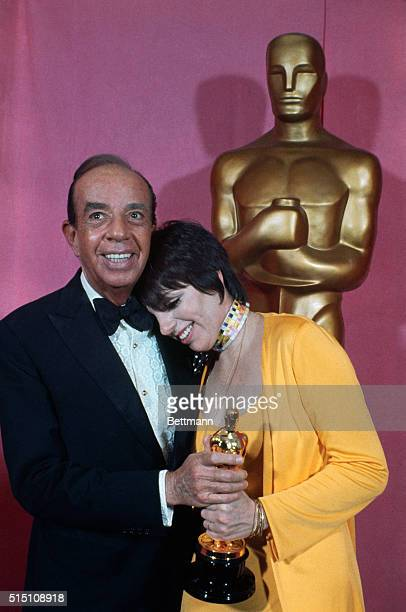 Liza Minnelli, winner of the Best Actress Oscar for Cabaret, poses with her father, Vincente Minnelli, after the award ceremony.