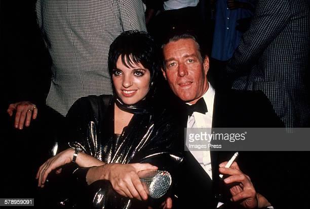 Liza Minnelli with designer Halston circa 1982 in New York City.
