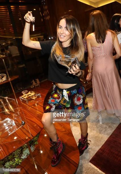 Liza Naumova is seen at the Alexandre Birman Bal Harbor Store Opening Event on November 8 2018 in Miami Florida