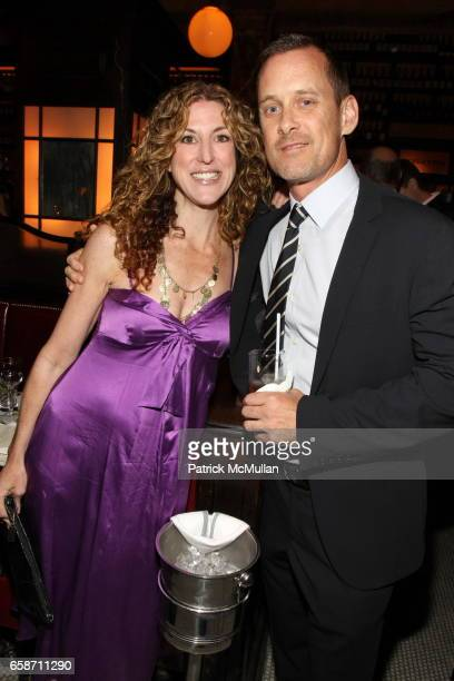 Liza Persky and Michael Rourke attend FRIENDS IN DEED Fall Benefit Honoring Donna Karan and Andy Cohen at Balthazar on June 16 2009 in New York City