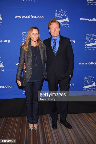 Liza Powel and Conan O'Brien attend the Children's Defense FundCalifornia's 27th Annual Beat The Odds Awards at the Beverly Wilshire Four Seasons...