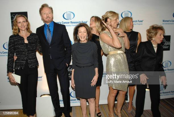 Liza Powel Conan O'Brien Marion Laurie Quinn Ezralow Jaime Tisch Kelly Chapman Meyer and Anne Douglas attend An Unforgettable Evening Benefiting...