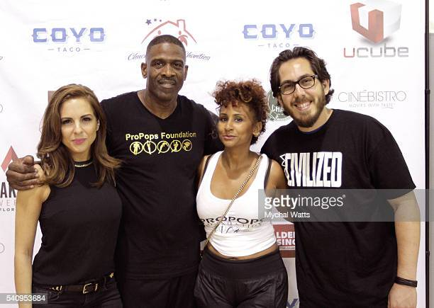 Liza Quin Dwyane Wade Sr and Gene Gayol attend Propops Foundation Fathers Day Weekend>> on June 18 2016 in Miami Florida
