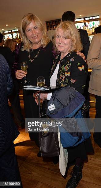 Liza Tarbuck and Joanna David attend NYT tribute to legendary director and president of the National Youth Theatre from 1983 to 2005 Bryan Forbes at...