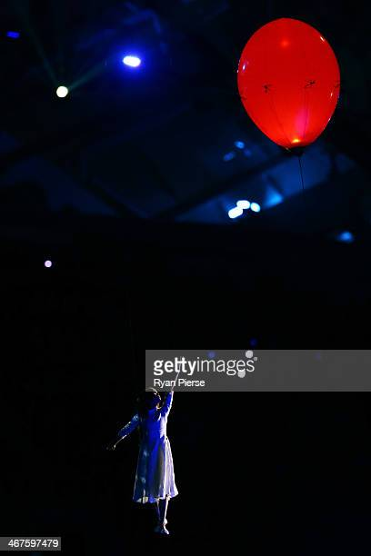 Liza Temnikova as Lyubov performs Moskva/The Dream during the Opening Ceremony of the Sochi 2014 Winter Olympics at Fisht Olympic Stadium on February...