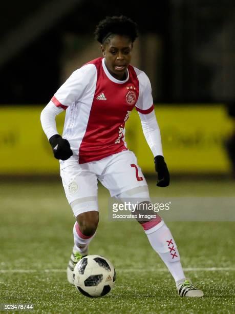 Liza van der Most of Ajax Women during the Dutch Eredivisie Women match between Ajax v PSV at the De Toekomst on February 23 2018 in Amsterdam...