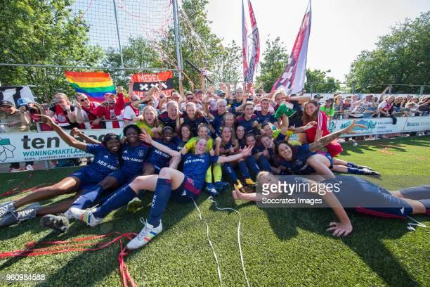 Liza van der Most of Ajax Women Stefanie van der Gragt of Ajax Women Inessa Kaagman of Ajax Women Desiree van Lunteren of Ajax Women Marjolijn van...