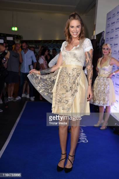 Liza Waschke attends the Angermaier Trachtennacht at Hofbraeu Wirtshaus on August 29 2019 in Berlin Germany