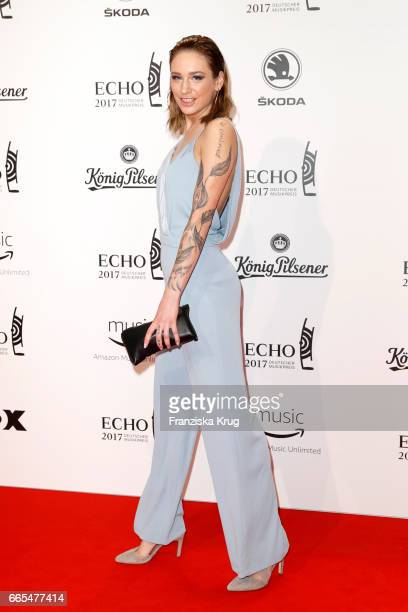 Liza Waschke attends the Echo award red carpet on April 6 2017 in Berlin Germany