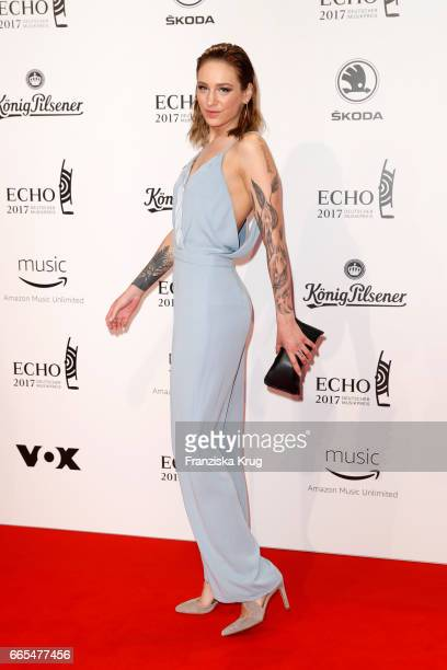 Liza Waschke attends the Echo award red carpet on April 6 2017 in Berlin Germany