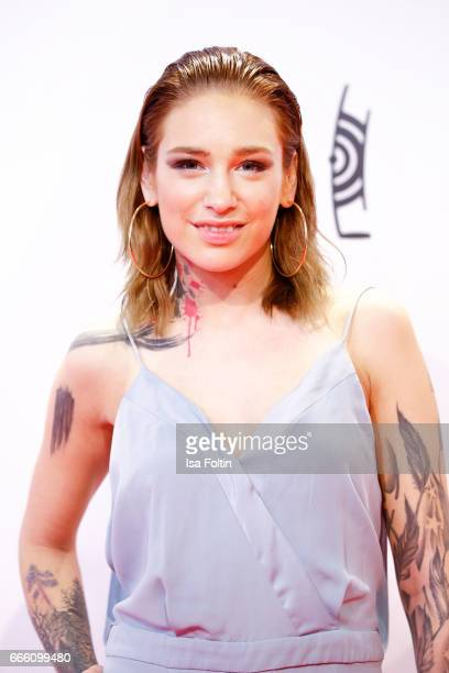 Liza Waschke during the Echo award red carpet on April 6 2017 in Berlin Germany