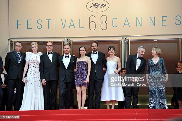 lizabeth Debicki David ThewlisMichael FassbenderMarion CotillardJustin Kurzel Essie Davis Iain Canning at the premiere of Macbeth at the 68th Cannes...