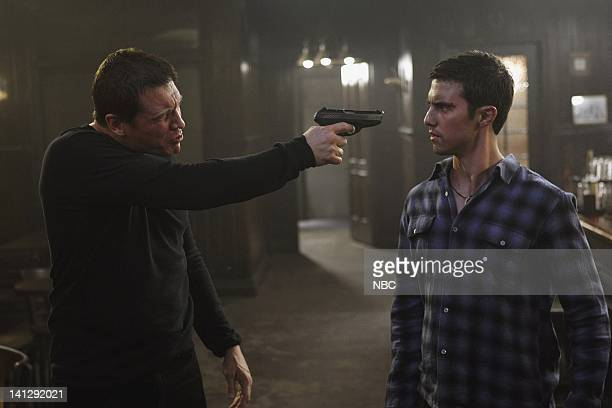 HEROES 'Lizards' Episode 2 Aired Pictured Holt McCallany as Ricky Milo Ventimiglia as Peter Petrelli Photo by Justin Lubin/NBCU Photo Bank