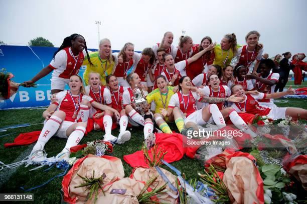 Lize Kop of Ajax Women, Liza van der Most of Ajax Women, Stefanie van der Gragt of Ajax Women, Merel van Dongen of Ajax Women, Davina Philtjens of...