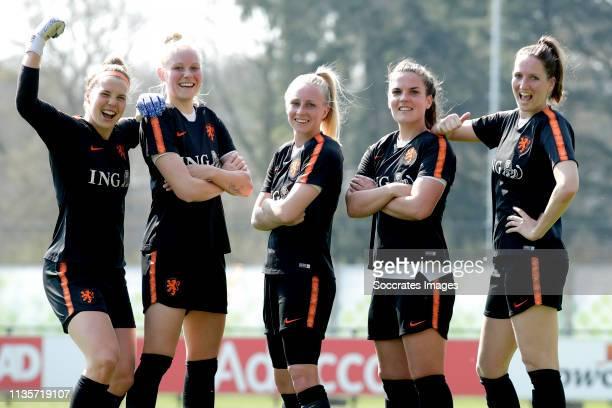 Lize Kop of Holland Women, Danique Kerkdijk of Holland Women, Inessa Kaagman of Holland Women, Siri Worm of Holland Women, Ellen Jansen of Holland...
