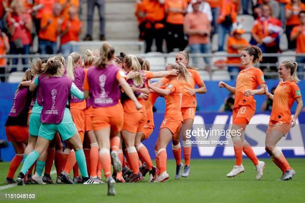 Lize Kop of Holland Women, Stefanie van der Gragt of Holland Women, Danique Kerkdijk of Holland Women, Danielle van de Donk of Holland Women, Jackie...