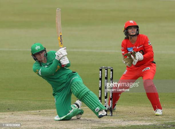 Lizelle Lee of the Stars bats during the Women's Big Bash League match between the Melbourne Stars and the Melbourne Renegades at CitiPower Centre on...