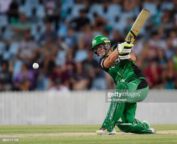 Lizelle Lee of the Stars bats during the Women's Big Bash League match between the Brisbane Heat and the Melbourne Stars on January 13 2018 in Mackay...