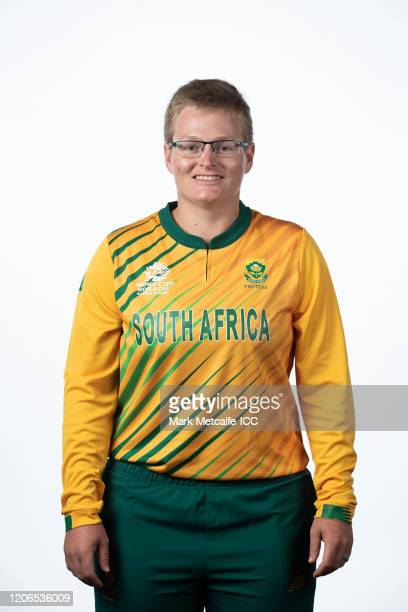 Lizelle Lee poses during the South Africa 2020 ICC Women's T20 World Cup headshots session at Adelaide Oval on February 16 2020 in Adelaide Australia