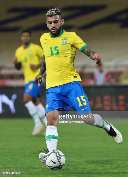 Liziero of Brazil in action during the International football friendly match between Serbia U21 and Brazil U23 at stadium Rajko Mitic on June 8, 2021...