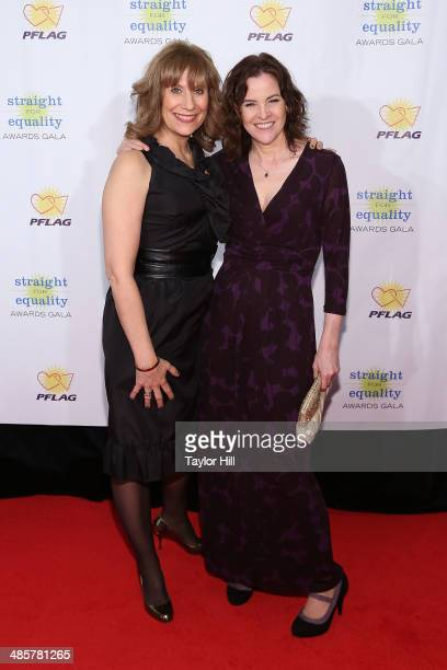 Lizz Winstead and Ally Sheedy attend the 6th annual PFLAG Straight For Equality Awards Gala at Marriott Marquis Times Square on April 10 2014 in New...