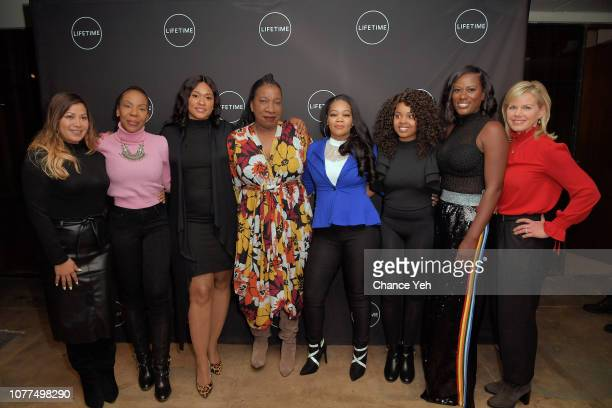Lizzette Martinez Andrea Kelly Lisa Van Allen Tarana Burke Kitti Jones Jerhonda Pace Asante McGee and Gretchen Carlson attend Lifetime / NeueHouse...